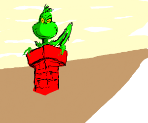 grinch in a chimney