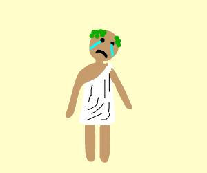 a sad roman dude
