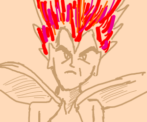 Vegeta with Red hair