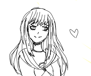 Cute Tsundere School Girl