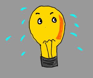 scared lightbulb