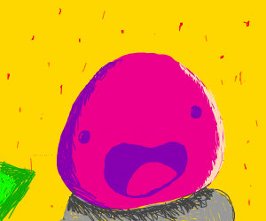 Pink slime from slime rancher
