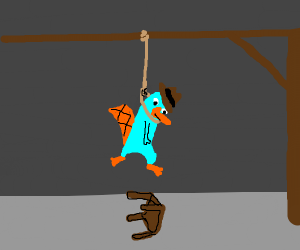 Perry the Platypus is hanged
