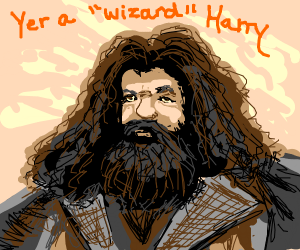 """Hagrid tells Harry he's a """"wizard"""""""