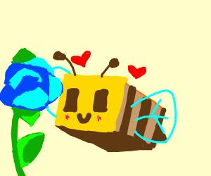 Minecraft bee loves flowers