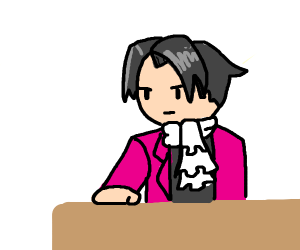 Miles Edgeworth from Ace Attorney objecting