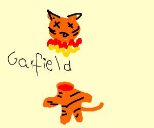 Garfield has blown up