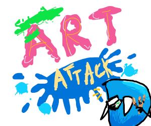 Drawception D on Art Attack!