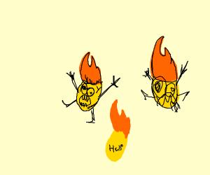 Flaming Corn Flakes