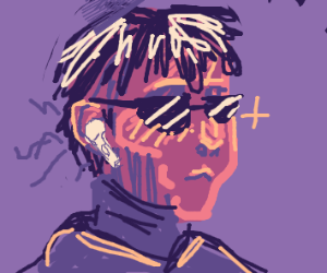 boy with sunglasses and airpods