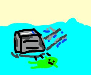 Alien toast crash landed