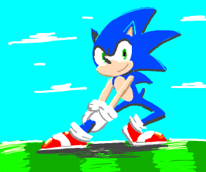 Sonic bending his legs
