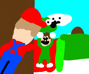 Mario find out Luigi is a furry