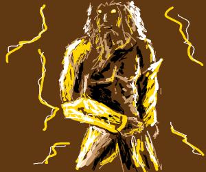 Zeus, god of lightening