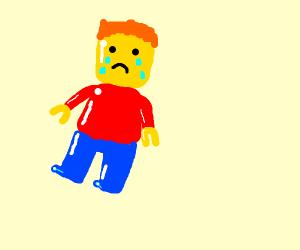 crying ginger lego man