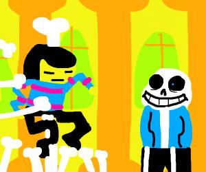 Sans breaks all of Frisk's bones