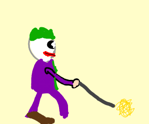 Joker takes his noodles for a walk