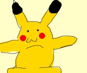 A pokemon t-posing