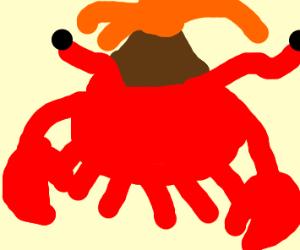 Erupting volcano crab