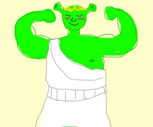 Shrek working out