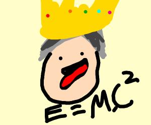 Einstein with crown