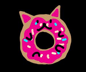 A Meownut (Cat Donut)!
