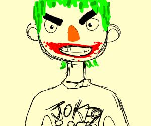 Joker wearing a T-Shirt