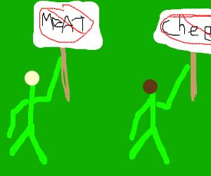Vegan Protesters