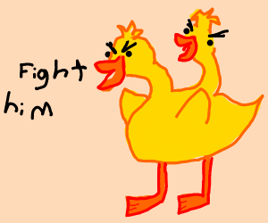 Fite the giant duckduck