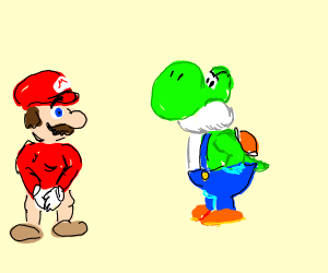 yoshi wears the pants