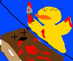 duck brutally murders smore