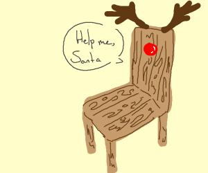 Reindeer Chair needs Santa's help