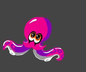 Happy kawaii octopus