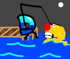 Drawception fishing for Yellmo