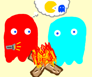 pac-man ghosts goin camping