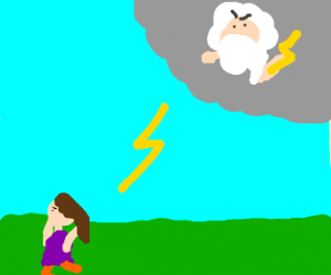 Lady attacked by Zeus
