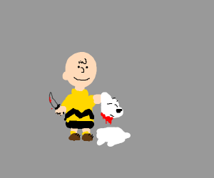 Charlie Brown causes the Demise of SNOOPY
