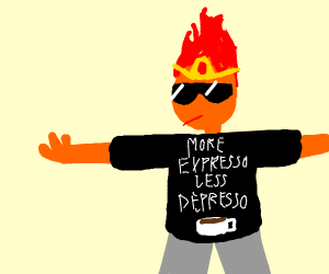 """more expresso less depresso"" fire princess"