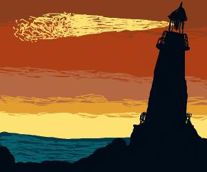 Lighthouse Beside the Sea