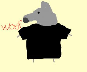 Wolf wearing a T-Shirt