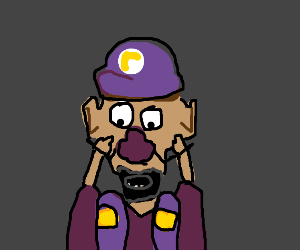 waluigi with a beard