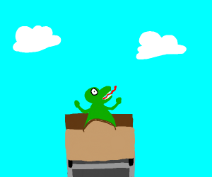 Dinosaur on a roller coaster