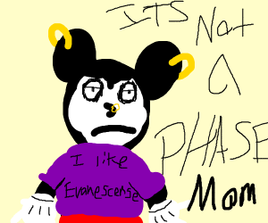 """""""It's not a phase, mom!"""" - Emo Mickey Mouse"""