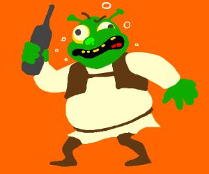 Shrek getting drunk