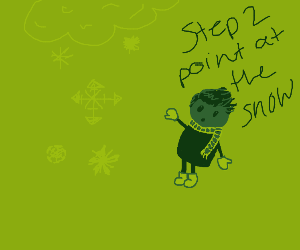 Step 1: Stare at the snow