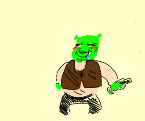 shrek is high and salivating