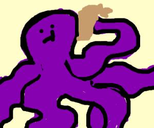 Octopus eating a Dumpling