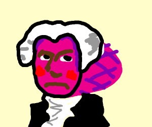 George Washington, but made of ham