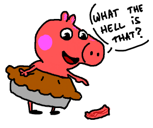 Peppa pie questioning bacon