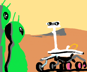 Mars rover finds two aliens